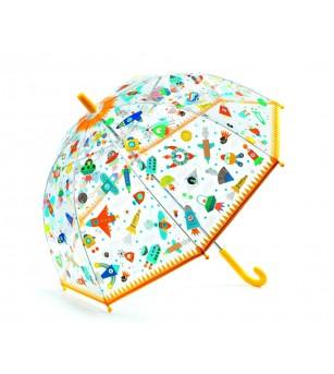 Umbrela colorata Djeco Nave si vehicule in zbor - Decorațiuni