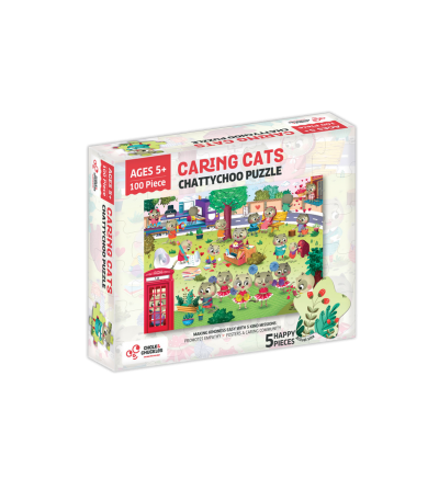 Puzzle cu surprize - Chatty Choo 100 piese