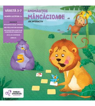 Joc interactiv Chalk & Chuckles - Animalutele mancacioase - Jocuri de memorie și asociere