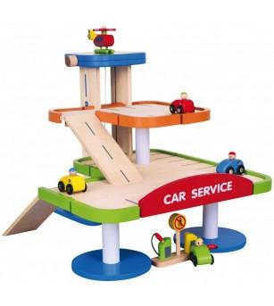 Statie de benzina cu parcare supraetajata si heliport - Vehicule de jucărie