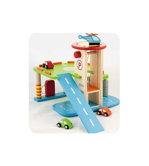 Statie de benzina cu parcare, lift si heliport - Vehicule de jucărie