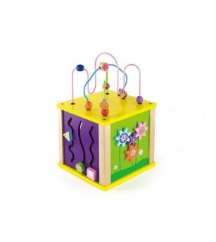 Cub educativ 5 in 1 de marime medie - Jucării de lemn si Montessori