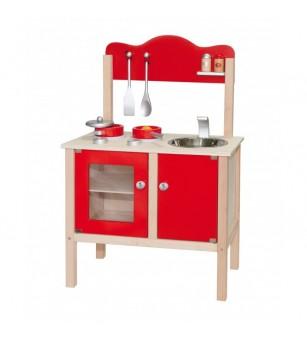 Bucatarie rosie cu accesorii - Bucătărie copii