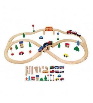 Set de trenulete din 49 de piese - Vehicule de jucărie