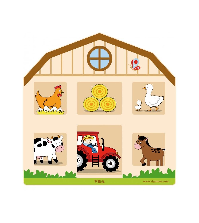 Jucarie de perete - Incuie si descuie - Jucării de lemn si Montessori