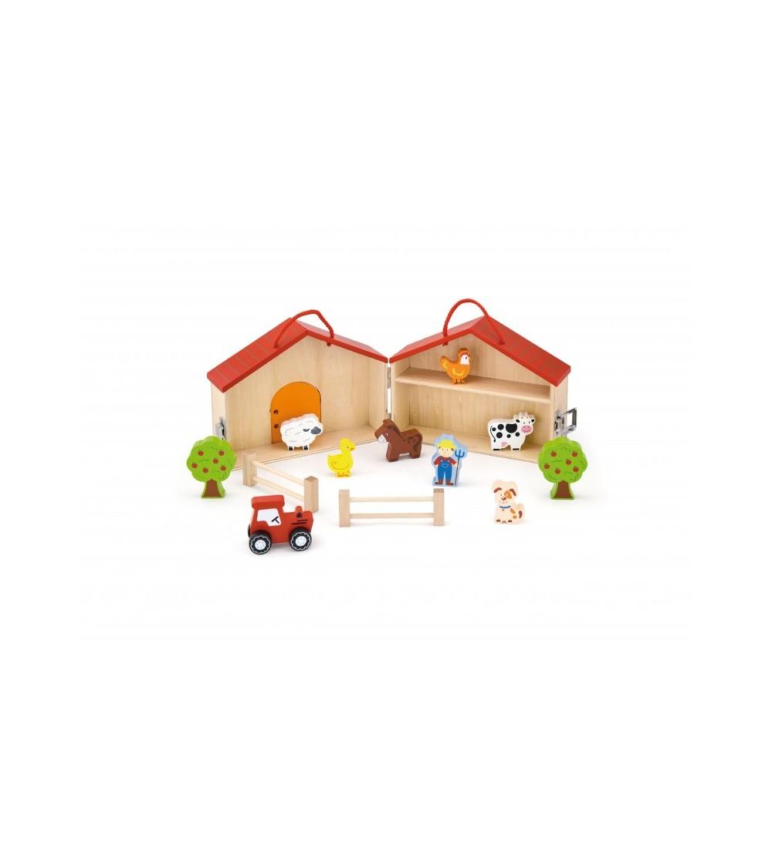"""Set de joaca """"La ferma"""" - Jucării de lemn si Montessori"""
