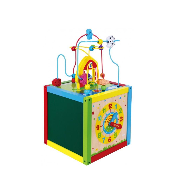 Centru de activitati mare 5 in 1 - Jucării de lemn si Montessori