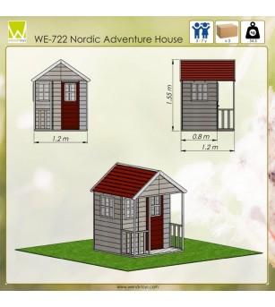 Casuta de gradina Nordic Adventure House (M6) - Locuri de joacă