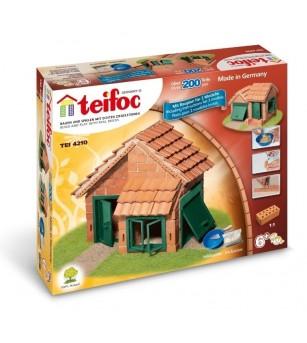 Kit de constructie Teifoc - Casa cu tigla - Jocuri construcție