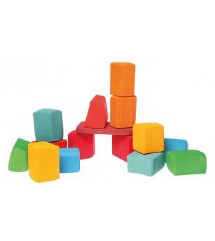 Set Waldorf de constructie cu 15 forme neregulate - Jocuri construcție