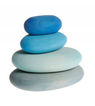 Forme in echilibru, oval, nuante de ablastru - Jucării de lemn si Montessori