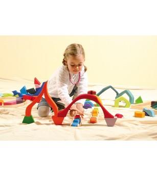 Jocul celor patru elemente - Waldorf - mare - Jucării de lemn si Montessori