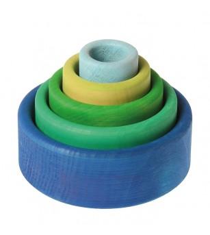 Set de boluri, albastru - SPIEL GUT - Jucării de lemn si Montessori