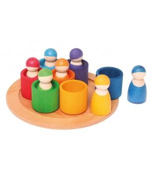 7 prieteni in 7 casute - Jucării de lemn si Montessori