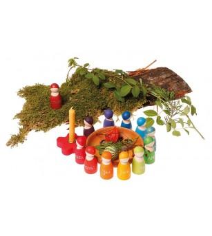 12 prieteni spiridusi - Jucării de lemn si Montessori