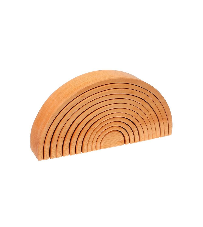 Curcubeu 12 piese - varianta lemn natur - Jucării de lemn si Montessori
