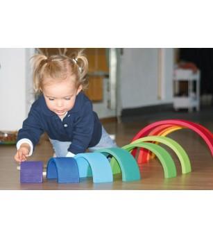 Set Curcubeu 12 piese - Jucării de lemn si Montessori
