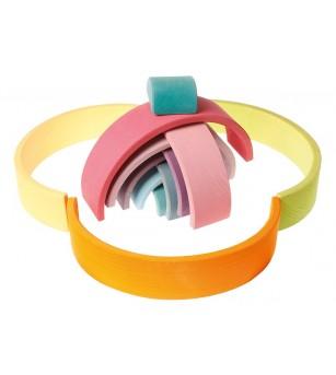 Set Pastel, 12 piese - Jucării de lemn si Montessori