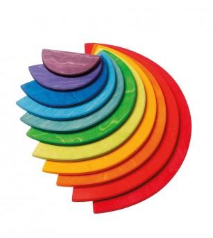 Set cu semicercuri curcubeu - Jucării de lemn si Montessori