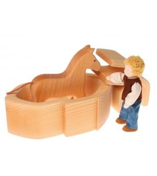 Casuta papusilor, natur - Jucării de lemn si Montessori