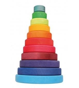Turn colorat, 11 piese - Jucării de lemn si Montessori
