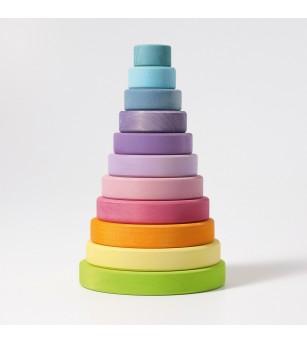 Turn colorat pastel, 11 piese - Jucării de lemn si Montessori