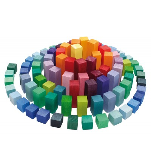 Joc piramida, 100 piese - Jucării de lemn si Montessori