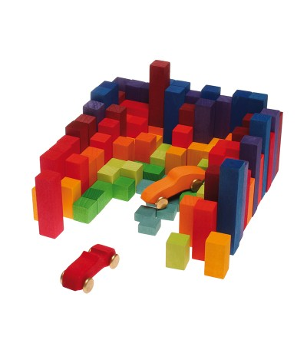 Joc de construit si numarat - Jucării de lemn si Montessori