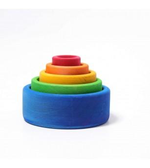 Set de boluri, curcubeu - SPIEL GUT - Jucării de lemn si Montessori