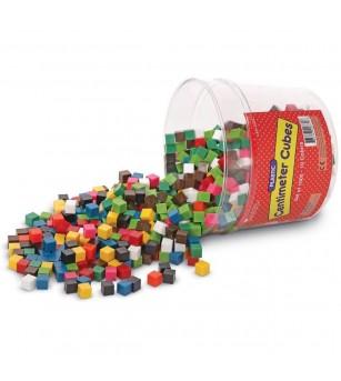Cuburi multicolore (1cm) - Jucării matematică