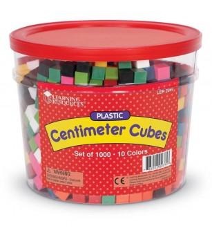 Cuburi multicolore (1cm) - Matematică