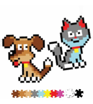 Set micro-puzzle Jixelz Fat Brain Toys 700 piese Animale de companie - Puzzle-uri