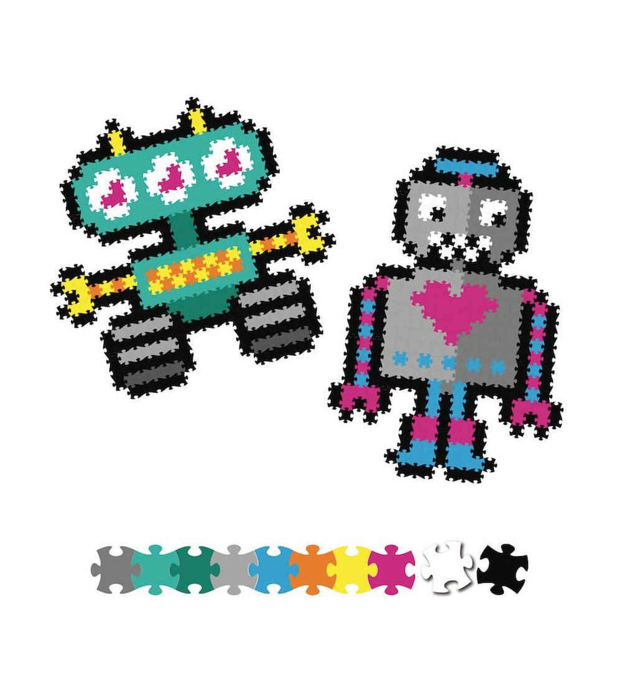 Set micro-puzzle Jixelz - Fat Brain Toys 700 piese - Roboti