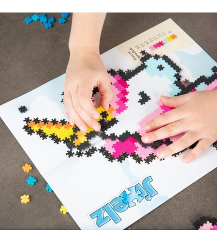 Set micro-puzzle Jixelz Fat Brain Toys 700 piese - Fantasy Friends - Puzzle-uri
