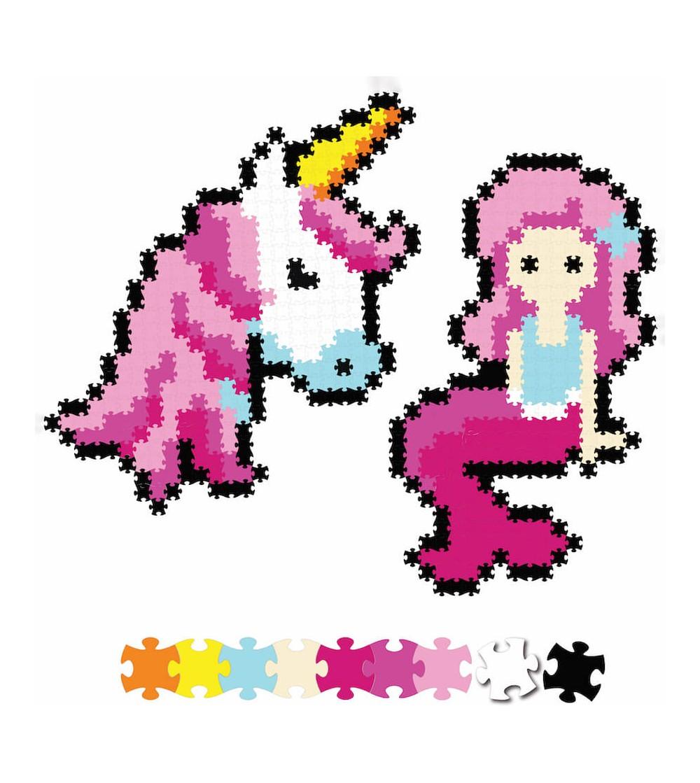 Set micro-puzzle Jixelz - Fat Brain Toys 700 piese - Fantasy Friends
