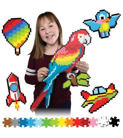 Set micro-puzzle Jixelz Fat Brain Toys 1500 piese - Up in the Air - Puzzle-uri