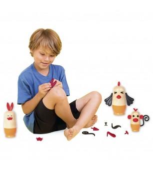 Joc din lemn Kipod Toys - MY 3 JOSHKA - Animale - Jucării de lemn si Montessori