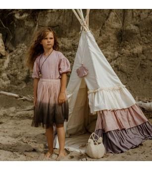 Cort Teepee pentru copii Volane roz - Corturi