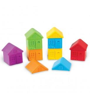 Joc de sortare - Casute colorate - Jocuri de îndemânare