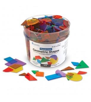 Forme geometrice transparente (408 piese) - Jucării matematică