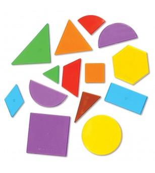 Forme geometrice transparente (408 piese) - Matematică
