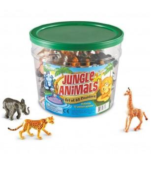 Set pentru sortat - Animalute din jungla - Jucării matematică