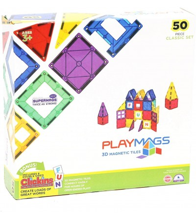 Set Playmags - 50 piese magnetice de construcție - Jucarii magnetice