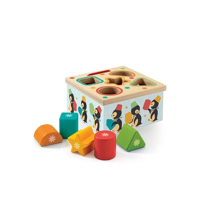 Geopingy Cutia formelor Djeco - Jucării de lemn si Montessori