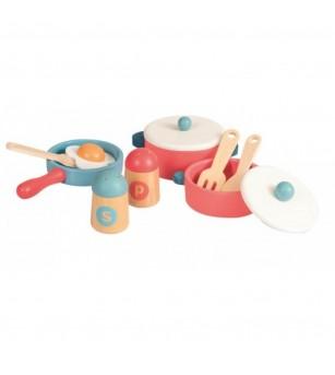 Set oale, tigaie si solnite din lemn, Egmont - Bucătărie copii