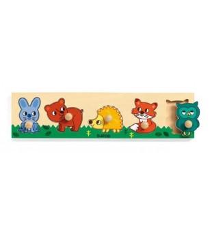 Puzzle cu buton Padure - Jucării bebeluși