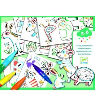 Atelier creativ Djeco, Animale - Desen și pictură