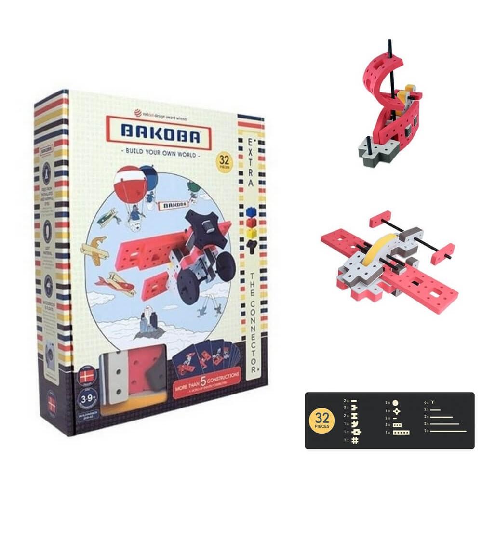 Set Bakoba Building Box 3 - 32 piese - Jocuri construcție