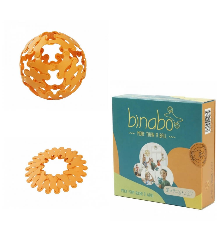 Joc constructie Binabo Portocaliu 36 piese - Jocuri construcție