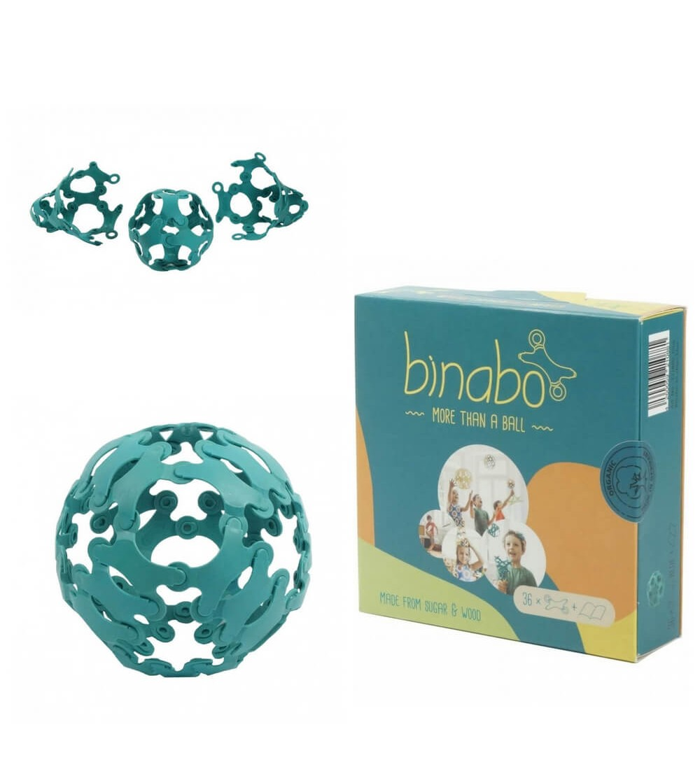 Joc constructie Binabo Albastru 36 piese - Jocuri construcție